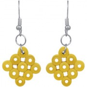 Fancy Paper Quilling Yellow Gold Dangle Silver Plated Fashion Jewellery Earrings Set For Women And Girls