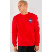 Alpha Industries Space Shuttle Sweat-shirt Rouge S