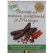 Biscuiti cu roscove, scortisoara si Moringa (150 gr)