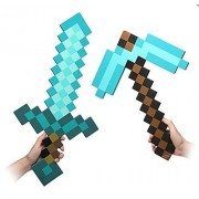 Minecraft Foam Sword & Pickaxe Combo, Set Of 2