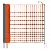 VOSS.farming farmNET 25 m chicken fence, poultry ffence, poultry netting, 112 cm, 9 posts, 2 spikes