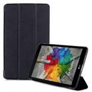 Notesz / mappa tok - FEKETE - oldalra nyíló flip cover, TRIFOLD asztali tartó funkciós - LG V525 G Pad III 8.0