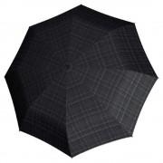 Knirps T-400 Duomatic XL Paraplu gents print checkered (Storm) Paraplu