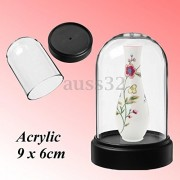 """AST Works Acrylic Clear Box Bell for Product Show Display Case Toys Dustproof 2.3""""x3.5"""""""