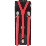 Eccellente Y- Back Suspenders for Men(Red)
