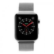 Apple Watch Series 3 Edelstahlgehäuse silber 42mm mit Milanaise-Armband silber (GPS + Cellular) edelstahl silber