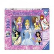 Пъзел Ravensburger 100 ел. - Дисни принцеси, с книжка за оцветяване, 7013699