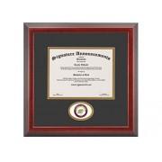 Signature Announcements Cornell-College Undergraduate, Graduate esculpido Foil Sello Diploma Marco, 40.6x 40.6cm, Cereza