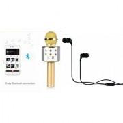 Mirza Q7 Portable Wireless Karaoke Microphone Handheld Condenser Microphone Inbuilt Speaker Microphone and Headset (C100 Headphones Devil Horn In-Ear Earphones Creative Earbuds With Mic )for SAMSUNG GALAXY J5