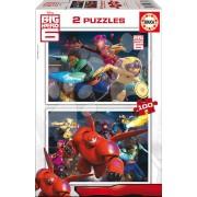 EDUCA 16337 Cardboard puzzle Big Hero 6, 2x100 bucăţi