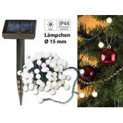 Solar-LED-Lichterkette mit 102 weissen LEDs, 10 m, IP44 | Solar Lichterkette
