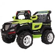 Masinuta electrica pentru copii, Jeep electric cu telecomanda Police, verde