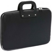 VibeX Carrying Case for 15.6 in Laptops with Shoulder Strap Medium Briefcase - For Men & Women(Black)