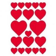 Merkloos 57x hartjes love stickers