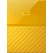 "HDD extern WD My Passport 2TB, 2.5"", USB 3.0, Galben"