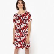 LA REDOUTE COLLECTIONS Gerades Kleid mit Blumenmuster und Knopf hinten
