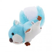 Magideal Stuffed Animal Keychain Large Tail Squirrel Bag Charm Plush Toy - Blue