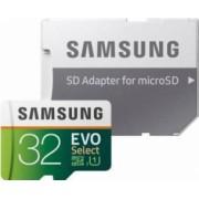 Card de Memorie Samsung EVO Select MicroSDHC 32GB UHS-I Clasa 10 95MB/s + Adaptor SD