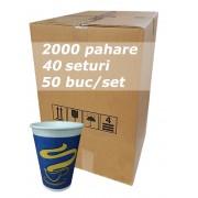 Pahar carton 7oz Blue JND bax 2000buc
