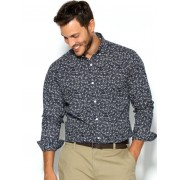 Only & Sons Camisa hombre estampada corte slim ONLY & SONS azul M
