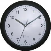 Ceas de perete analogic radiocomandat 25 cm, negru