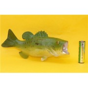 2 colors: Large mouth Bass Simulation model Marine Animals Sea Animal kids gift educational propsAction Figures