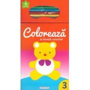 Coloreaza si invata culorile! 3 (+4 creioane)