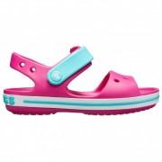 Crocs - Kids Crocband Sandal - Sandales de marche taille J1, rose/turquoise