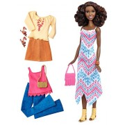 Barbie Fashionista Tall African-American Doll with 2 Additional Outfits