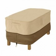 Classic Accessories Rect Ottoman/Side Table Cover, Cover Type Small Table/Ottoman, Primary Color Tan, Primary Material Polyester, Model 72912
