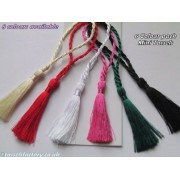 Wholesale Tassels CARDMAKING BOOKMARK MINI TASSELS CRAFT BRIDAL 8 COLS