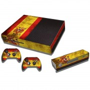 MicroSoft Spainish Vlag patroon Stickers voor Xbox One Game Console
