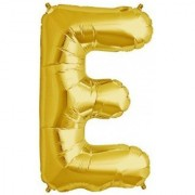 Stylewell 16 Inch Alphabet (E) Soild (Golden) Color 3D Foil Balloons For Birthday And Anniversary Parties Decoration