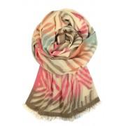 Monako letní kašmírový šál růžová
