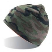 Merkloos Fijngebreide camouflage muts voor volwassenen