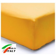Lenzuolo Angolo con Elastici Matrimoniale Lenzuolo Made in Italy Cotone OCRA