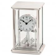 AMS 1210 Tafelklok-Jaarklok zilverkleurig 23 cm hoog