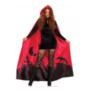 Deguisetoi Cape luxe rouge femme
