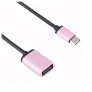 14cm USB Hembra A Usb-c / C * Macho OTG Adaptador Convertidor De Cable, Para Samsung Galaxy S8 S8 + / LG G6 / Huawei P10 Y P10 Plus / Xiaomi Mi 6 Y Max 2 Y Otros Smartphones (oro Rosa)