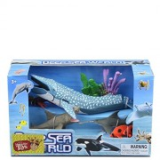 Pi² Marine Animal Toy Model of Movable Joints Big whale shark octopus dolphins squid coral animals