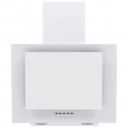 vidaXL Wandafzuigkap 60 cm roestvrij staal en gehard glas wit
