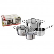 Excellent Houseware 4 Piece Casserole Set Stainless Steel Silver