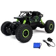 Jaynil Enterprise™ Waterproof Dirt Drift Rock Crawler Remote Controlled RC Monster Truck, Four Wheel Drive, 1:18 Scale 2.4 GHZ , Green