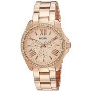 Fossil Analog Rose Gold Dial Womens Watch-Am4483I