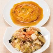 《ハロートーク》 〈四陸〉かに玉と中華丼の具(塩味)セット 2種 計6袋