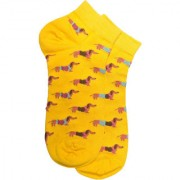 Soxytoes Hot Dogs Blue Cotton Ankle Length Pack of 1 Pair Animal Print Unisex Casual Socks (STS0192B)