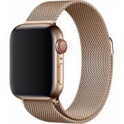 Wotchi Ocelový milánský tah pro Apple Watch - Zlatý 38/40 mm