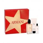 Giorgio Armani Sì confezione regalo Eau de Parfum 100 ml + lozione per il corpo 75 ml + Eau de Parfum 15 ml per donna