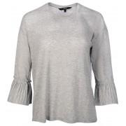 Vero Moda Tricou pentru femei Jaku 3/4 Cuff Frill Top D2-2 Gri deschis Melange Melange S