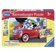Puzzle Minnie, Mickey Si Prietenii, 2X12 Piese Ravensburger